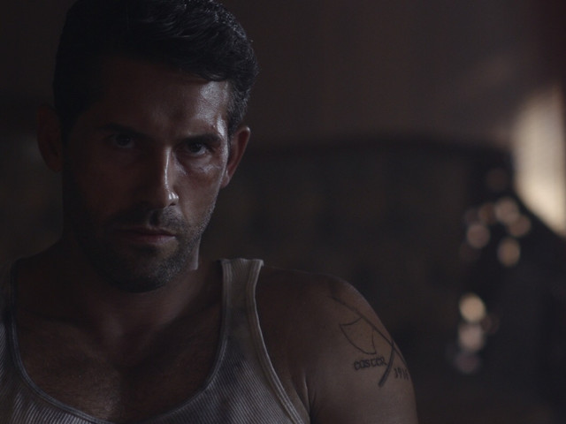 Scott Adkins on the set of SAVAGE DOG
