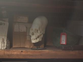 Alien skull underground lair set