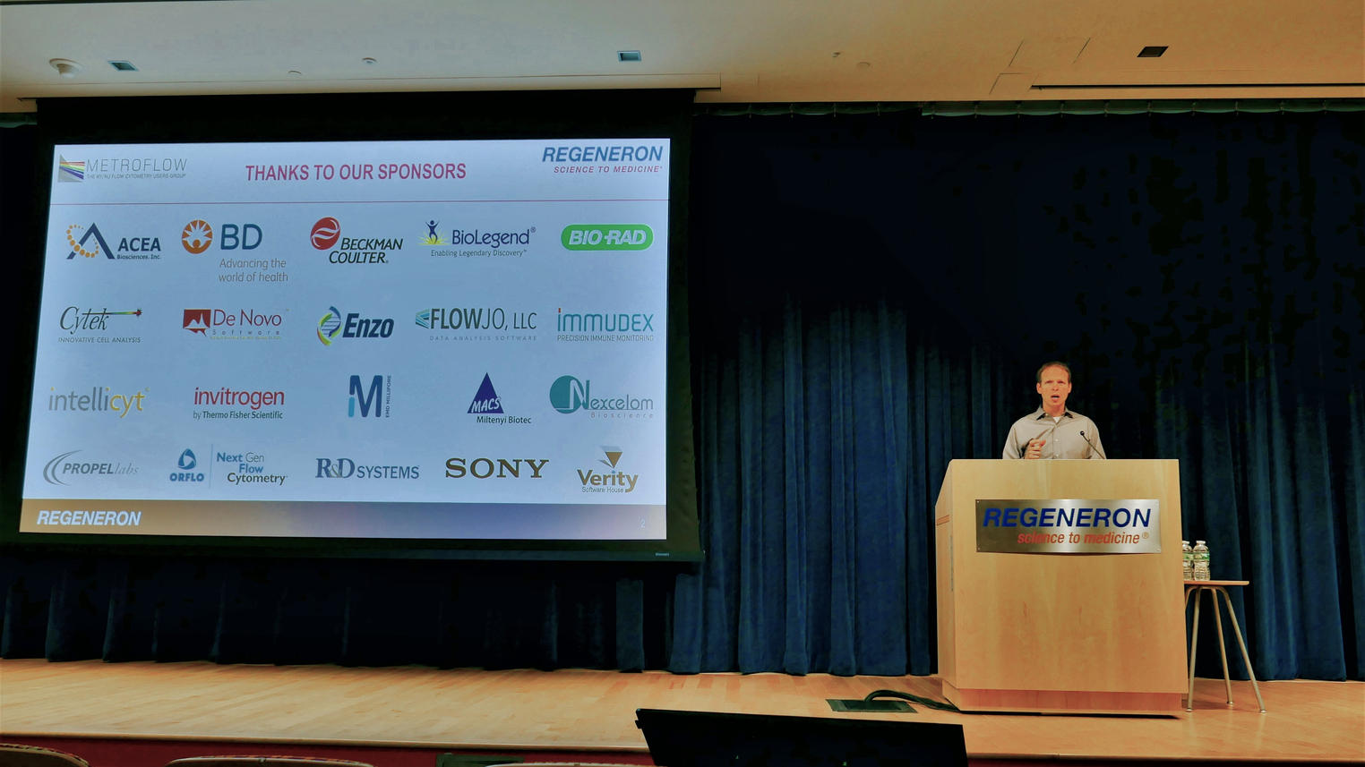 Benjamin Daniel welcomes the participating vendors and all of the attendees to the First Anual Regeneron - MetroFlow Flow Cytometry Vendor Meeting