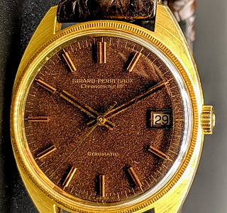 Solid Gold Girard Perregaux Gyromatic HF Chronometer