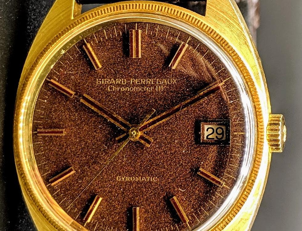 Solid Gold Girard Perregaux Gyromatic HF Chronometer