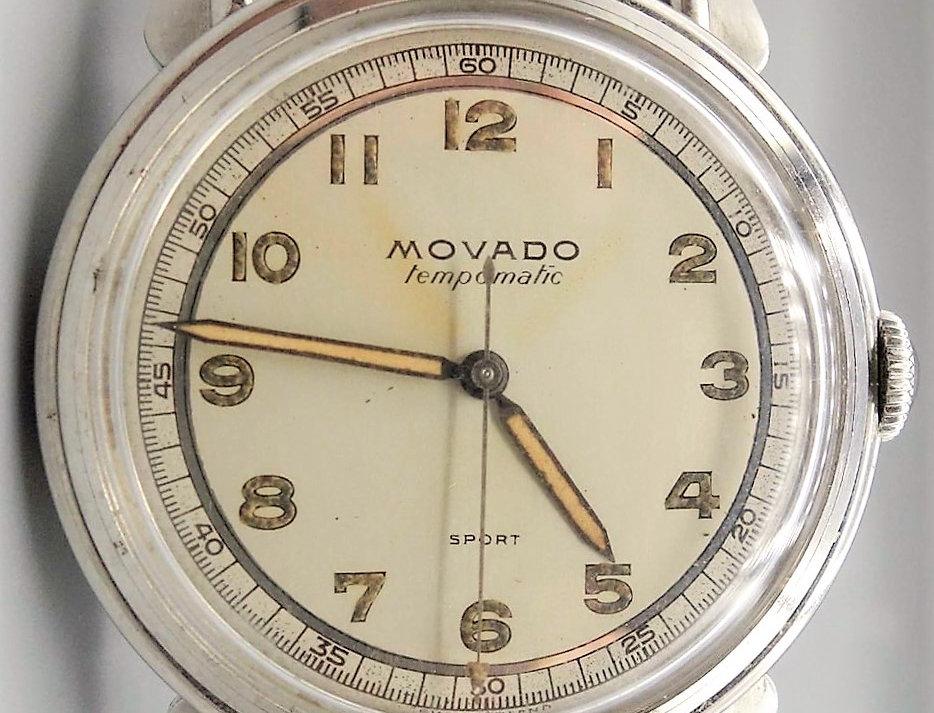 Movado Tempomatic Sport Military Dial 1951