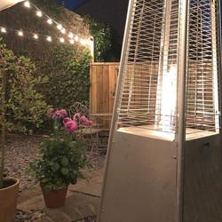 It's a beer garden type of evening