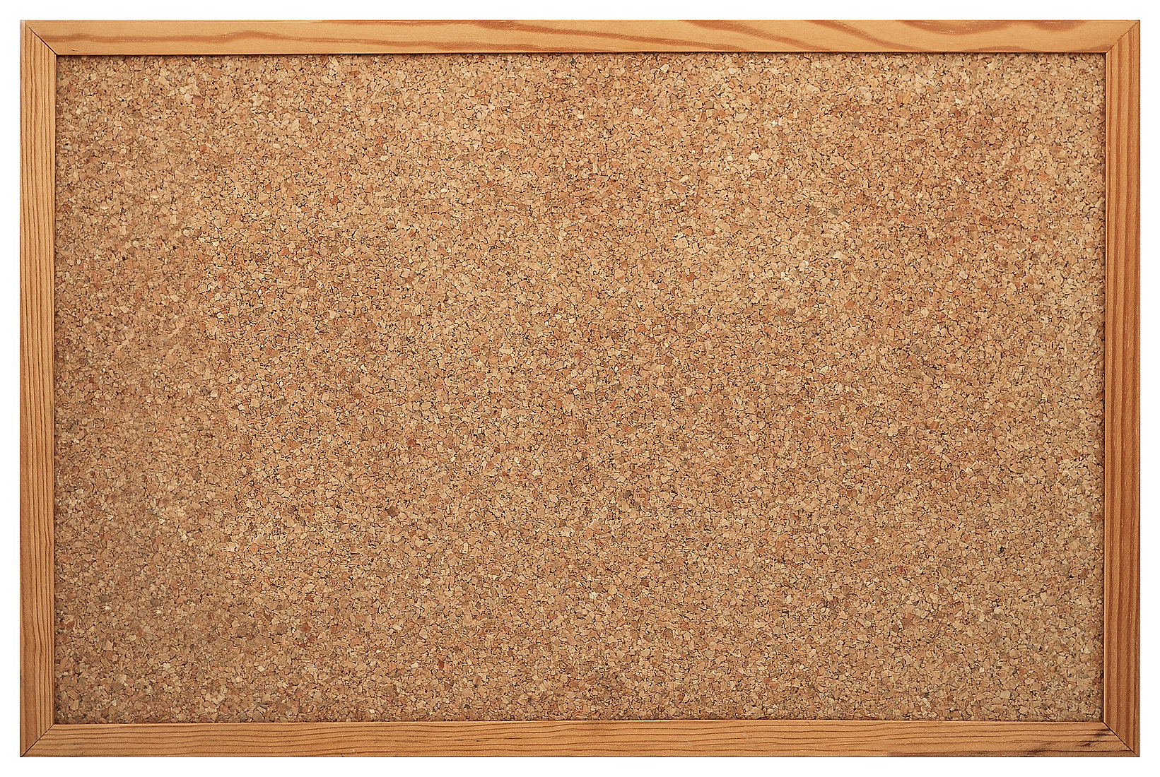 Blank Cork board with wooden frame (isol