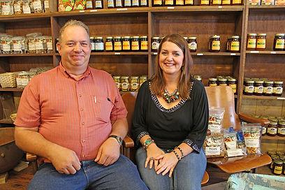 Bryant Farms_Randy and Lisa Bryant at Bryant Pecan CompanyIMG_7