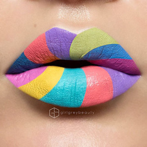 Make-Up Artist Creates Stunning Designs By Using Her Lips As Blank Canvases