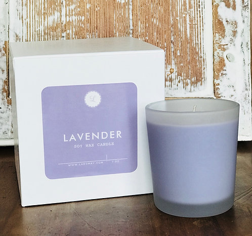7 oz Frosted Lavender Soy Candle