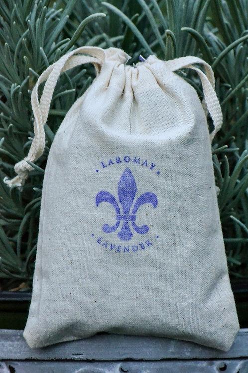 Lavender stamped sachet