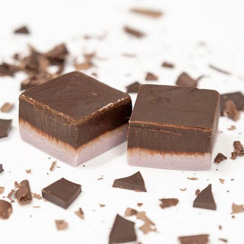 Dark Chocolate Lavender Fudge