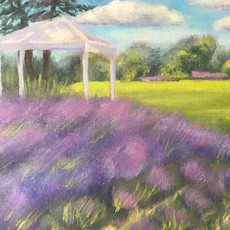 Beautiful painting of our back field by Linda Bertrand