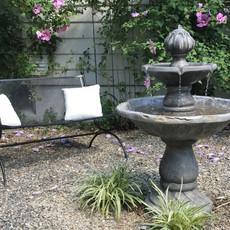 Fountain rose garden