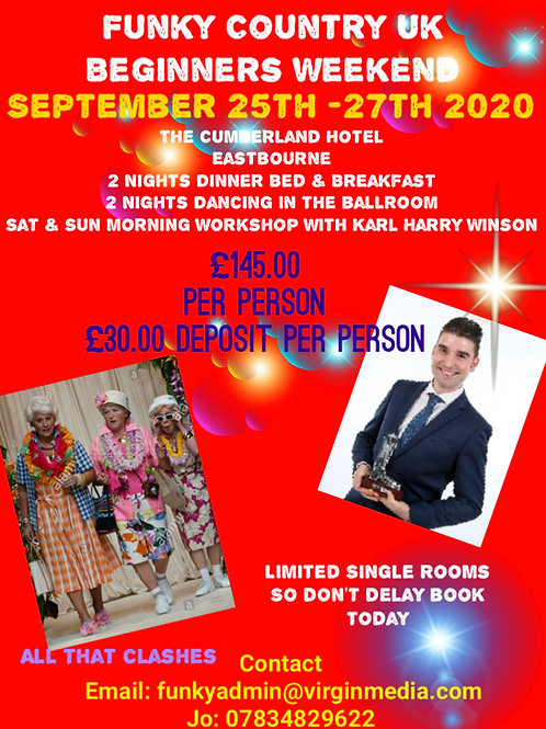 Beginners Weekend with Guest Choreographer Karl Harry Winson Deposit