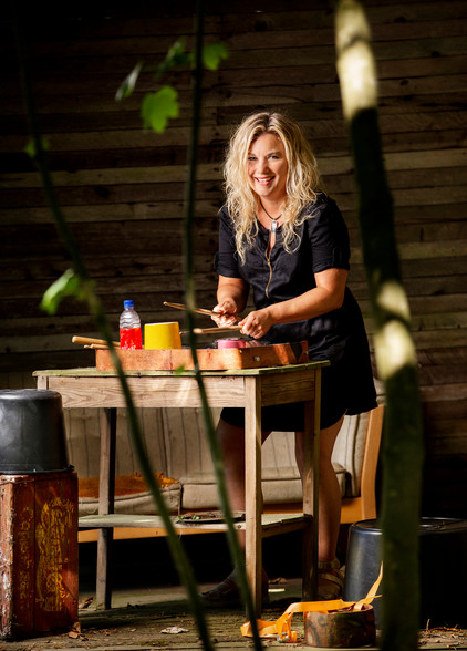 Christine Dueholm På spanden Foto: signfind photo graphic