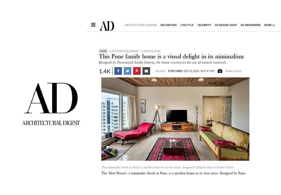 Architectural Digest - Matt House