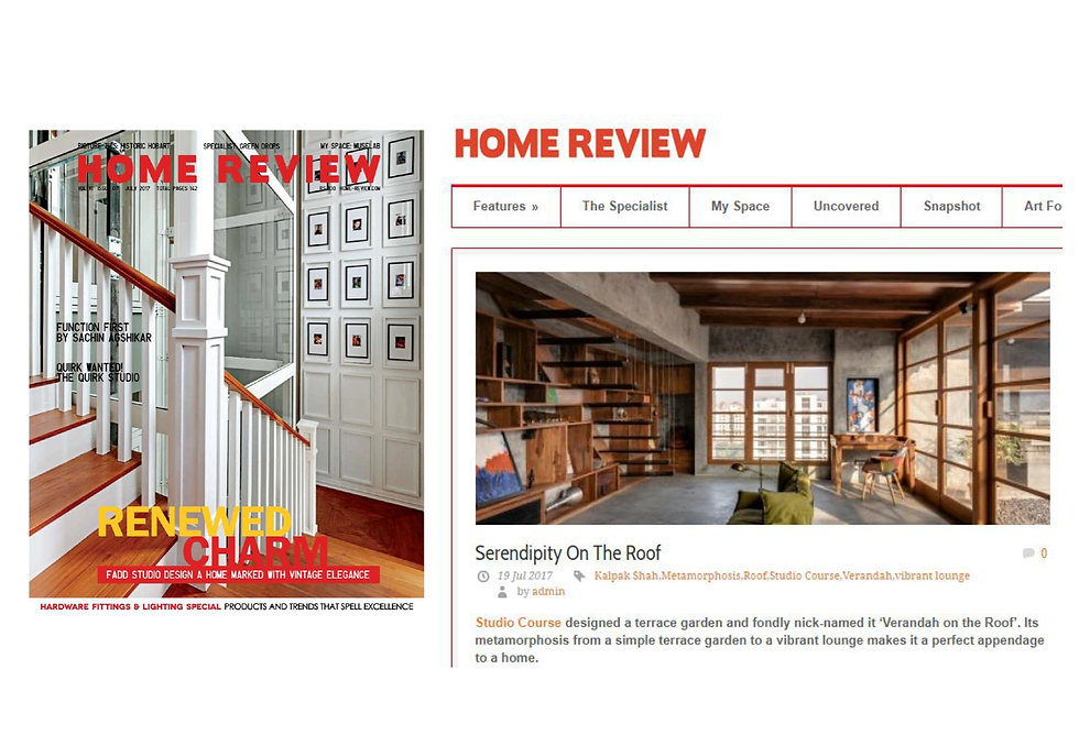 Home Review - Veranda on a roof