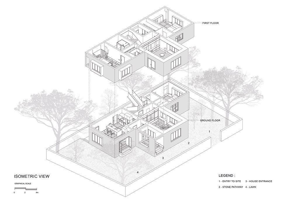 T House - Isometric view