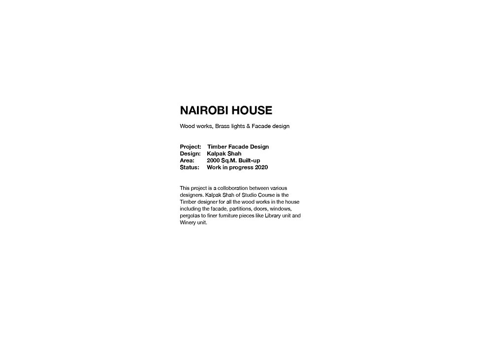 Nairobi House - Introduction