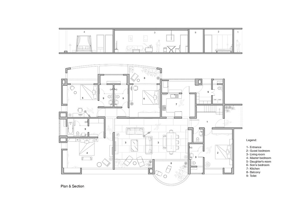 Matt House - Plan and section