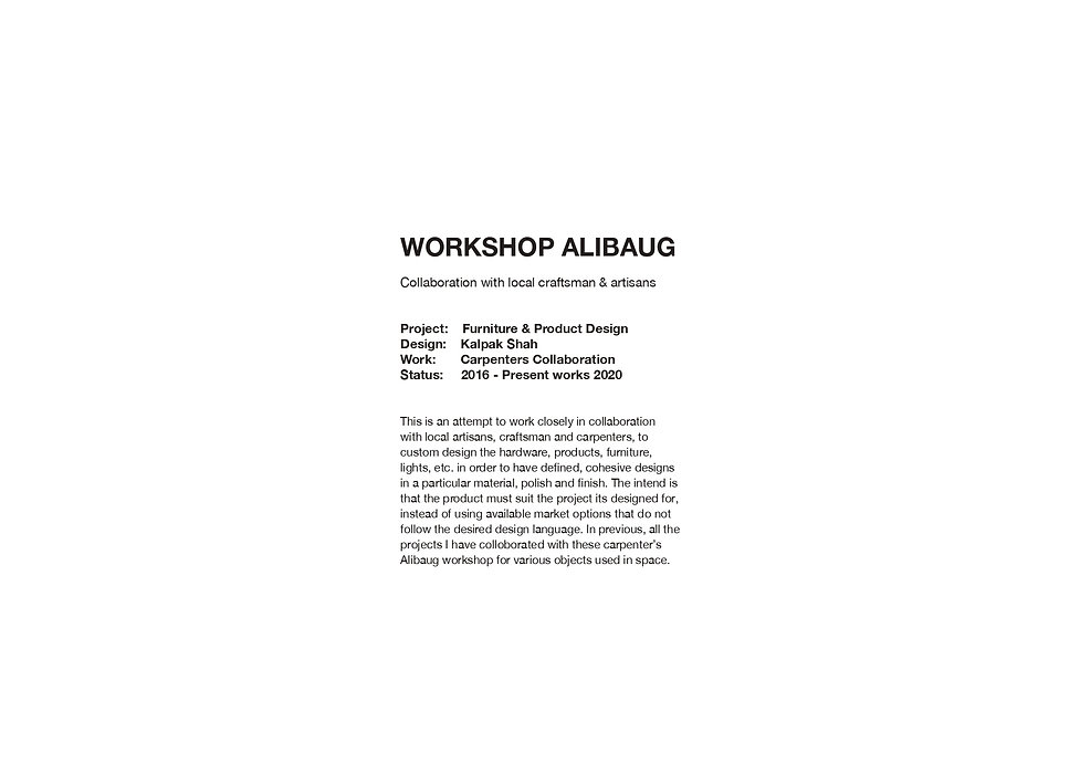 Workshop Alibaug - Introduction