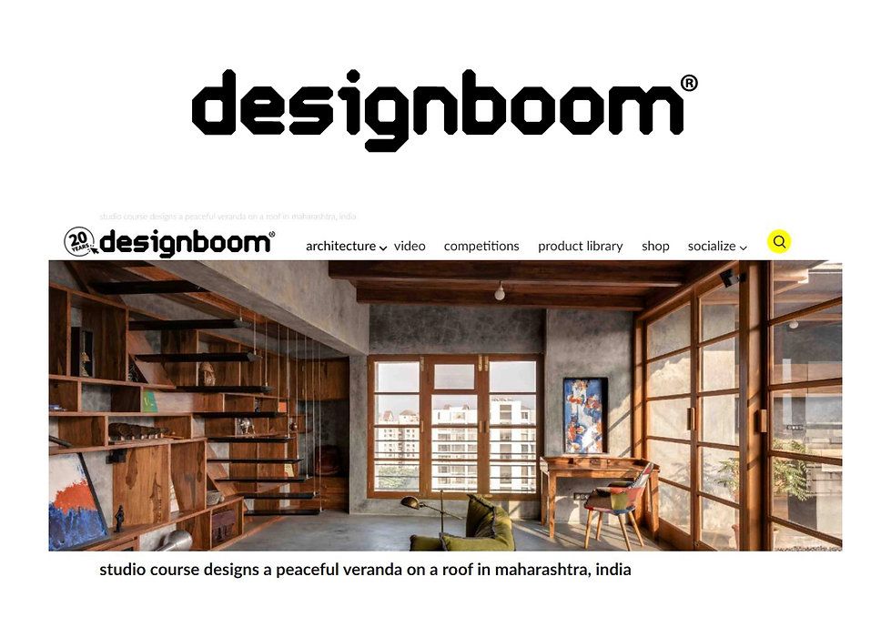 Designboom - Veranda on a Roof