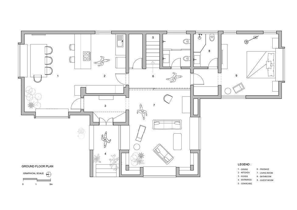 T House - Ground Floor Plan