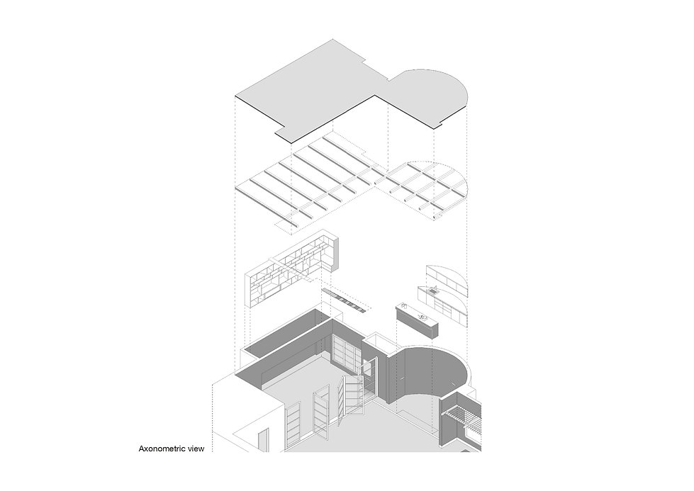 Veranda on a roof - Isometric view