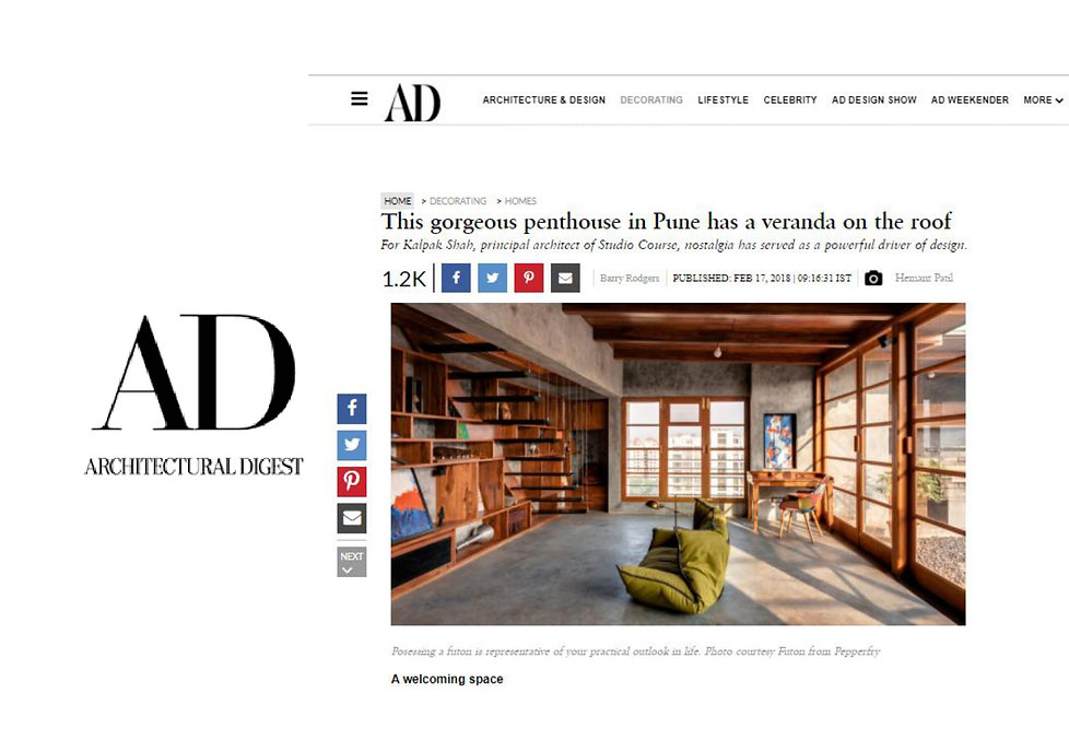Architectural Digest - Veranda on a roof