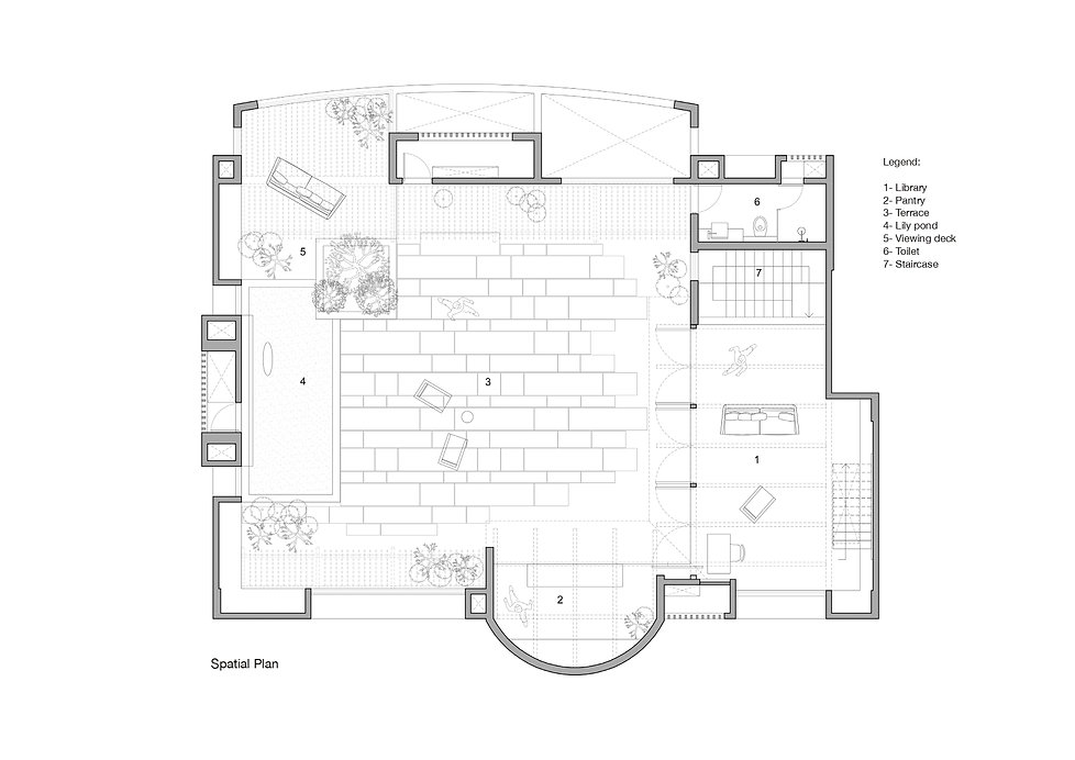 Veranda on a roof - Plan