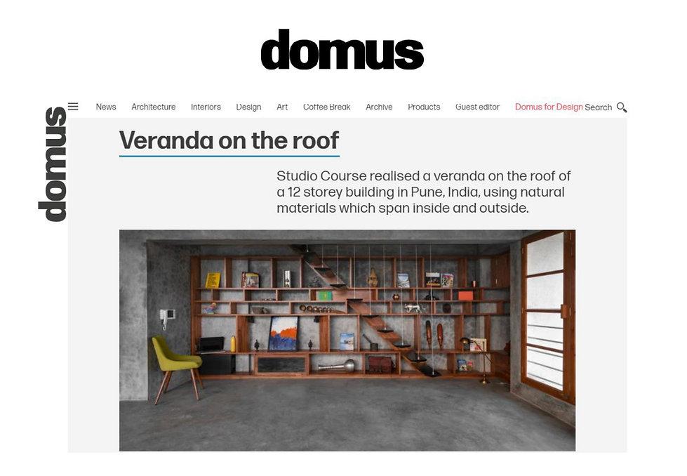 Domus - Veranda on a roof