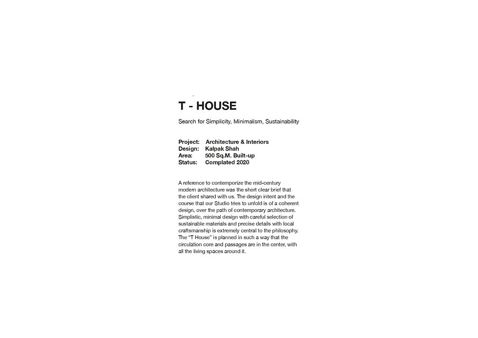 T House - introduction