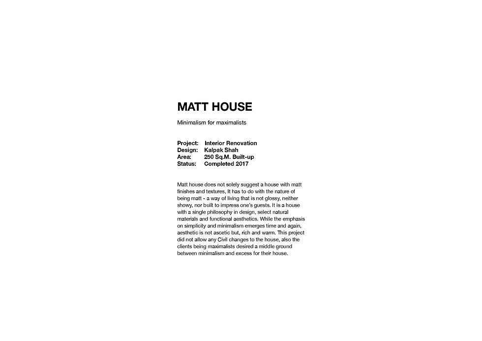 Matt House - Introduction