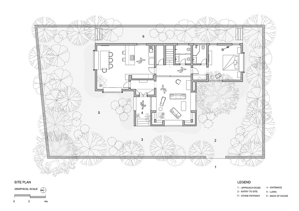 T House - Site plan