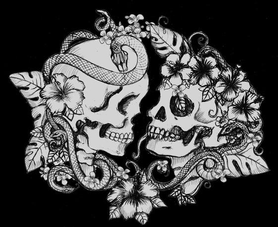 Hawiian Love Skulls
