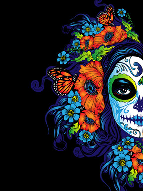 Day of the Dead Half Face