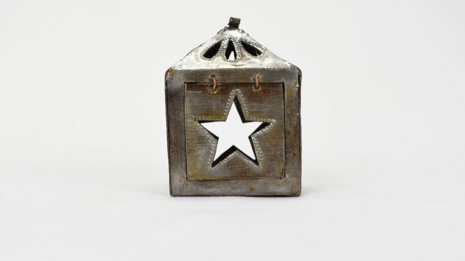 Mini Square Lantern  with Star Cutout