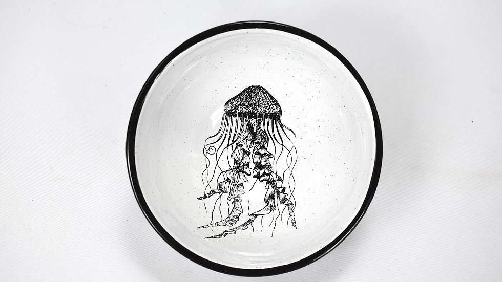 Enamel Chili Bowl - Jellyfish