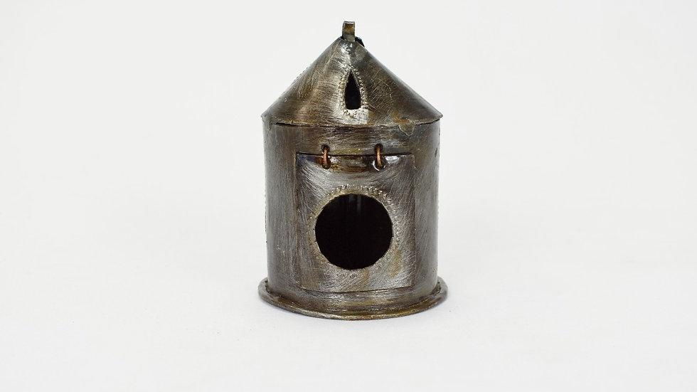 Mini Round Lantern with Circle Cutout