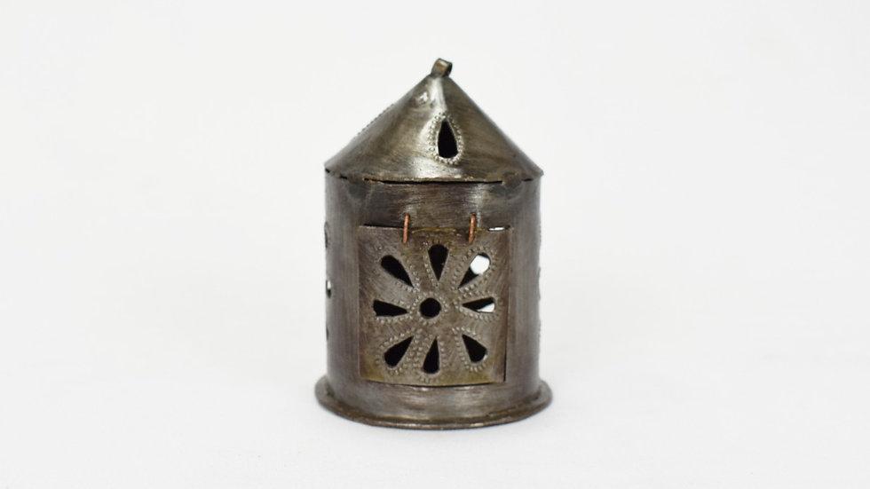 Mini Round Lantern with Flower Cutout