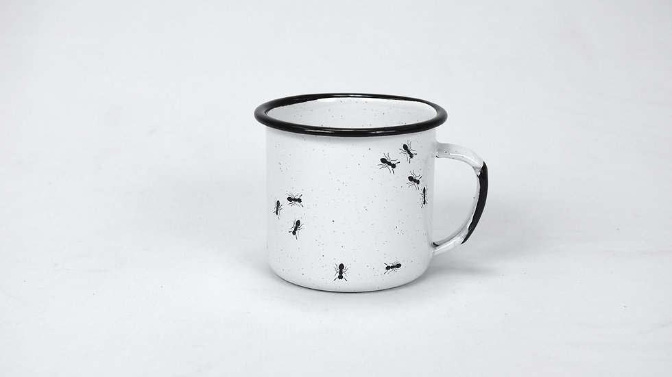 Enamel Coffee Cup - Ants