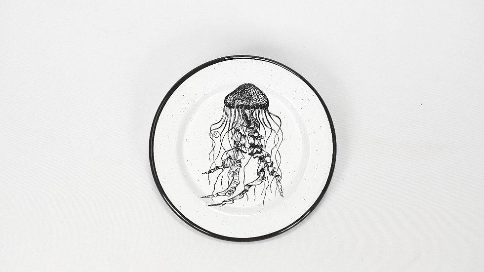 Enamel Appetizer Plate - Jellyfish
