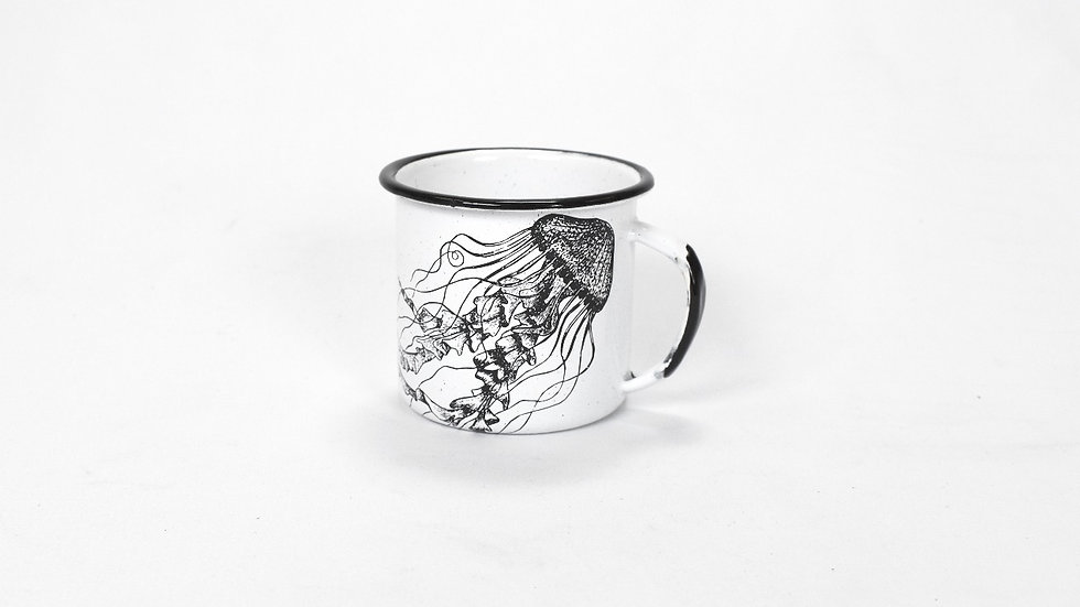 Enamel Coffee Cup - Jellyfish