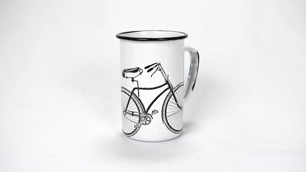 Enamel Tall Cup - Bicycle