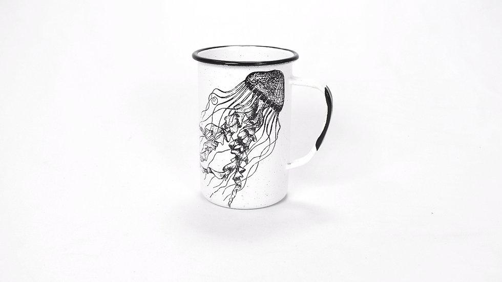Enamel Tall Cup - Jellyfish