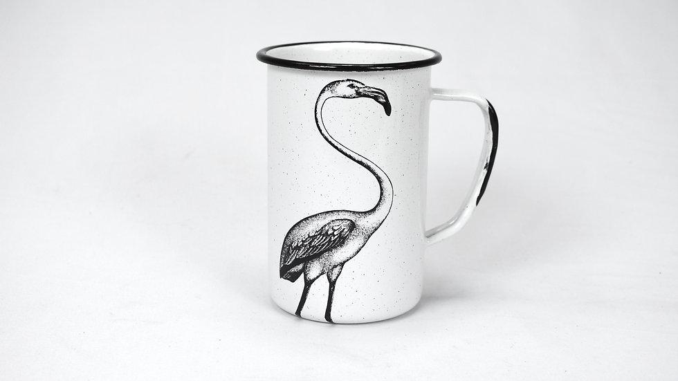 Enamel Tall Cup - Flamingo