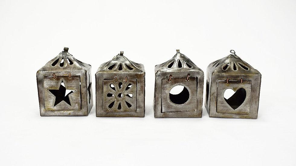 Set of 4 Square Mini Lanterns