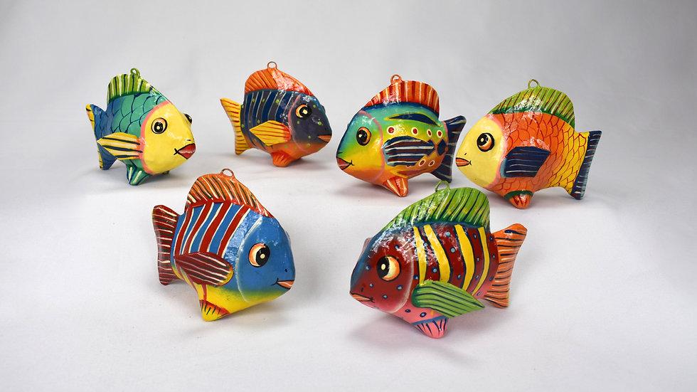 Handmade Paper Mache Fish
