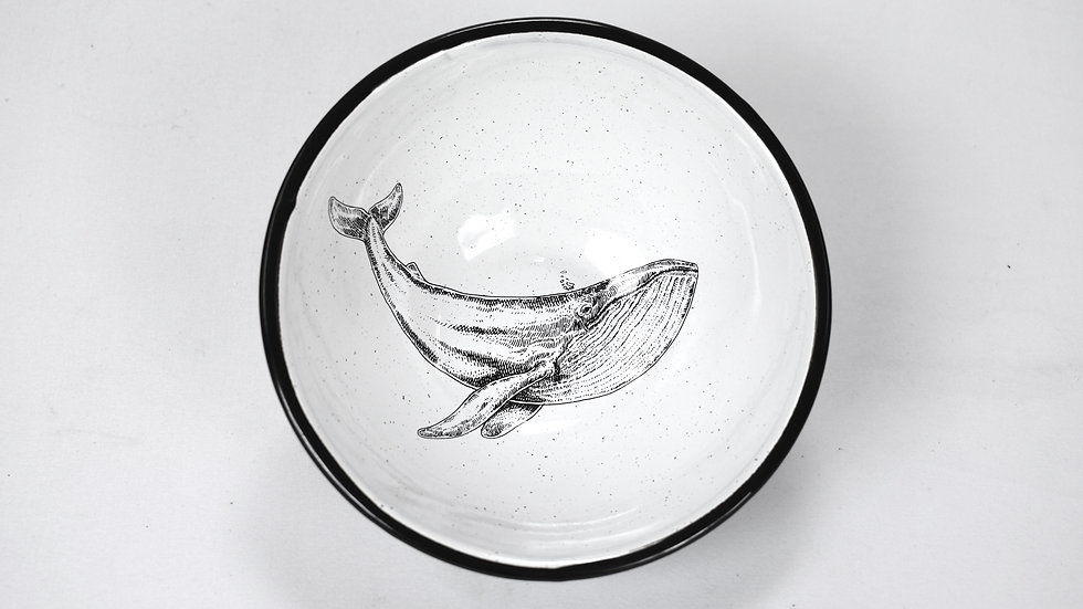 Enamel Chili Bowl - Whale
