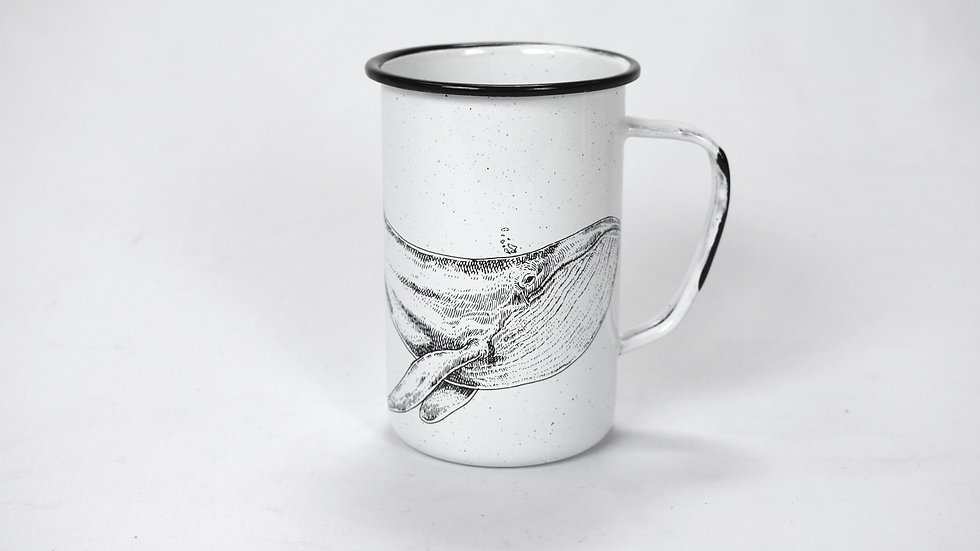 Enamel Tall Cup - Whale