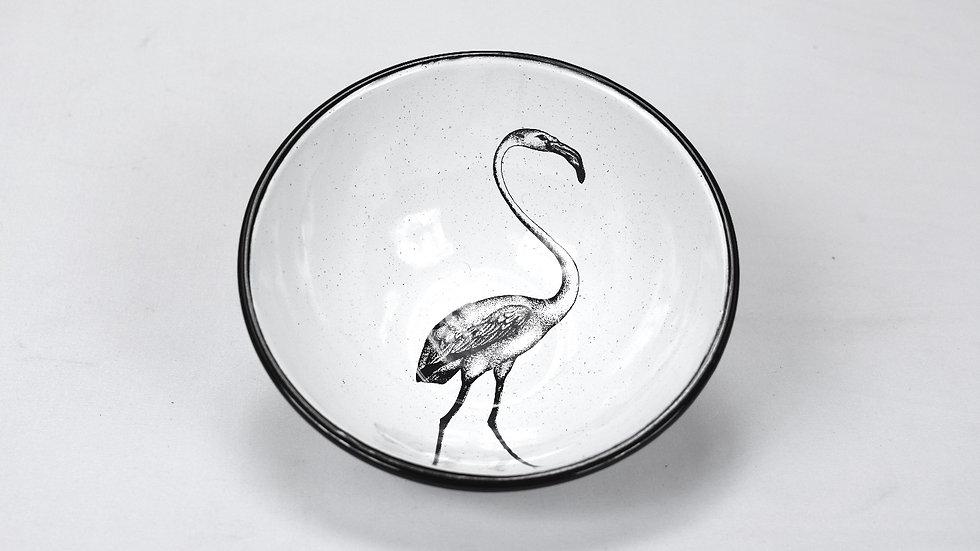 Enamel Chili Bowl - Flamingo