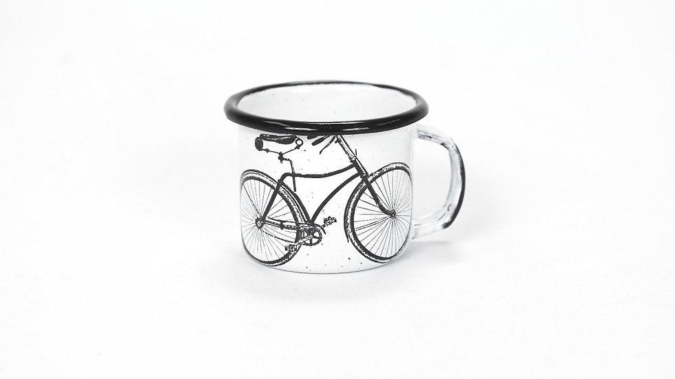 Enamel Espresso Cup - Bicycle